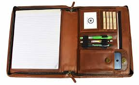 aaron leather portfolio tablet holder