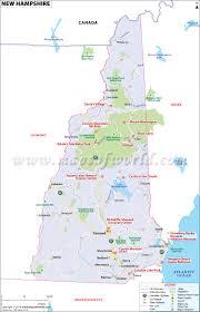 new hampshire map map of new hampshire map of nh