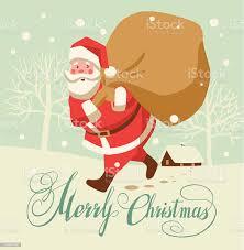 Buon Natale Babbo Natale Vintage - Immagini vettoriali stock e altre  immagini di Albero - iStock