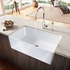 Kitchen  White Apron Sink Stainless Steel Double Kitchen Sink Barn Style Kitchen Sinks