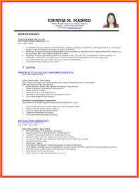 Example Of Resume For Ojt Management Students Resume Ixiplay