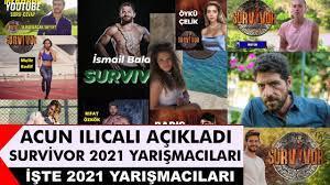 Survivor 2021 Kadrosu - Ünlüler Ve Gönüller! Survivor 2021 Yarışmacıları  Kimler? - YouTube