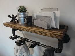 Black Wood Coat Rack Industrial Black Pipe and Reclaimed Barn wood Coat by Mobeedesigns 43