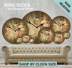 oversized rustic wall clocks nine sizes to choose from image large rustic wood wall clocks