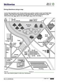 Map Directions Worksheet Worksheets