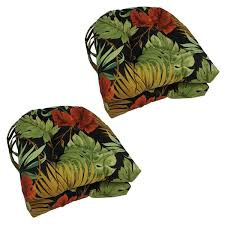 Blazing Needles 16 inch U Shaped Outdoor Chair Cushions Set of 4