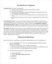 sample movie review documents in word pdf movie review assignment sample