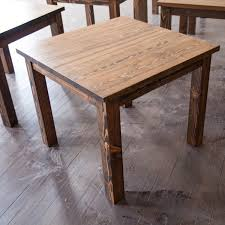 rustic square dining table. Rustic Square Dining Table