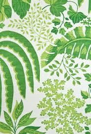 rainforest fabric large weave white cotton fabric with jungle leaf design in rich green suitable for curtains and general domestic upholstery