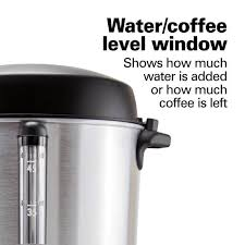 Makes 15 to 45 cups of hot, fresh coffee, perfect for social gatherings and buffet style meals 2 way dispenser for single cup or. Hamilton Beach 45 Cup Fast Brew Stainless Steel With 1 Hand Dispensing Coffee Urn 40521 The Home Depot
