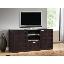 modern wood tv stand. tosato shaker-style brown wood tv stand and media cabinet modern tv o