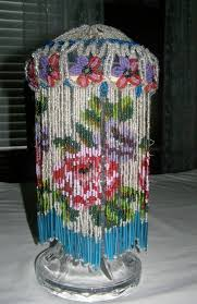 vintage beaded fringe vintage beaded lamp shade beautiful flower glass beaded lamp shades
