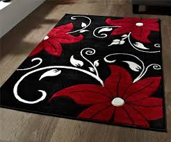 red black and white rug red and black rugs decor room area