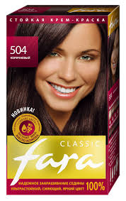 "<b>Краска для волос Fara</b> ""Classic"", тон 504, коричневый | Купить с ..."