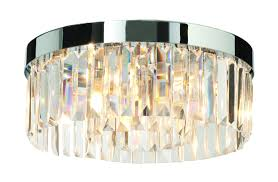 chrome with clear crystal 28w g9 ip44 double insulated bathroom ceiling light