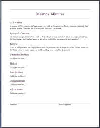 Simple Minutes Of Meeting Sample Sample Standard Minutes Of Meeting Format Agenda Template