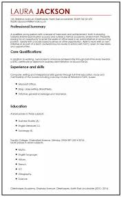 Resume For Someone With No Work Experience Sample