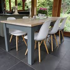 hand painted dining table and chairs. hand painted table with eames style chairs contemporary-dining-table-sets dining and l