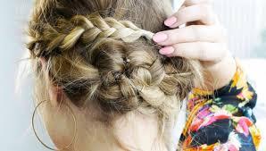 Jednoduchý Zapletený účes Pro Kratší Vlasy Modacz