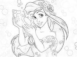 Disney Princess Ariel Coloring Pages Christmas Sheets Free Printable