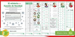 Todos los juegos de esta es una colección de 15 himnos navideños cristianos que nos recuerda que así como vino una vez, lo. Juego De Detectives El Misterio De La Funcion De Navidad
