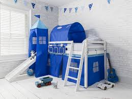 bunk bed with slide and tent. Cabin Bed Midsleeper Bunk Kids With Slide + Blue Tent , Tower \u0026 Tunnel: Amazon.co.uk: Kitchen Home And B