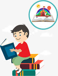 a little boy reading a book book in one s childhood children imagination png