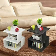 Book Design Side Table Details About Modern Coffee Tea End Side Table Stand Storage Book Shelf Rack Bedside Table New