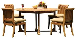 round table with 4 chairs 5 piece teak set round table 4 chairs decade sand cushion round table with 4 chairs