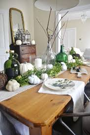 fall dining room table decorating ideas. This Lovely Neutral \u0026 Green Fall Dining Room Table Decorating Ideas