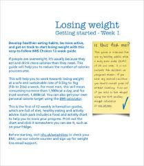 8+Weekly Weight Loss Chart Template | Free & Premium Templates