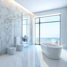 Double Bathroom Vanity Marble Countertop Marble Mosaic Tiles Floor - White marble bathroom