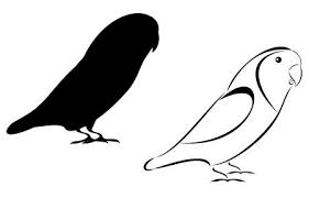 lovebird clipart silhouette. Plain Lovebird A Tribal And Silhouette Lovebirds Set Stock Vector  4533419 In Lovebird Clipart Silhouette T