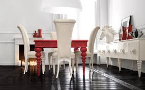 Interior:Contemporary Kitchen With Red And White Interior Feat White Solid  Countertop Palatial Red And