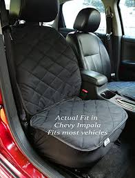 plush paws co pilot pet car seat cover for bucket seats with bonus harness and