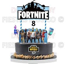 Fortnite Cake Topper Season 5 Fortnite Party Supplies Leave Age