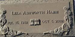Lela Ashworth Hamm (1912-2002) - Find A Grave Memorial