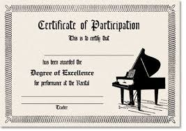 Piano Certificate Template Musical Certificate Templates Acepeople Co