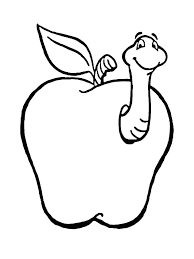 Fruit Coloring Page Coloring Pages For Fruits Coloring Page Apple