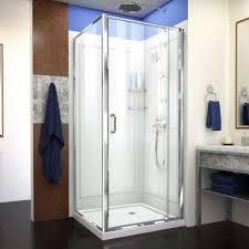 flex 36 in x 36 in x 76 75 in framed corner pivot shower
