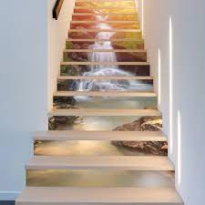 ChezMax 3D Scenery Pattern Stair Risers ...