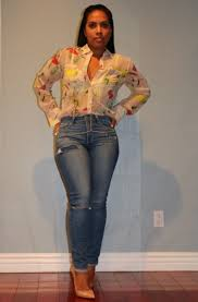 Wearing Blouse Denim So Kate Nude Pumps Body Chain Things 2.