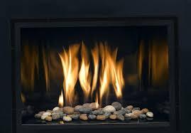 indoor gas fireplace glass rocks inserts convert