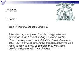 causes and effects of divorce effects