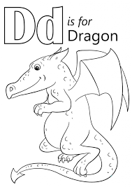 Small Picture Letter D Is For Dragon Coloring Page Download Education Letter