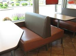 Above: Example of a commercial restaurant booth after reupholstery