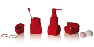 Dark Red Bathroom Accessories Nice Red Bathroom Accessories Sets Home Design Ideas Images Of