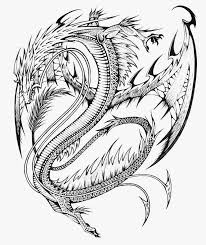 Printable Dragon Coloring Pages For Adults With Cool Easy Animal