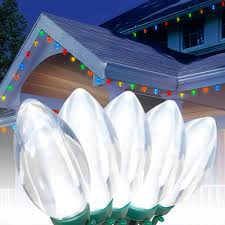 C9 Lights Walmart Holiday Time Led C9 Ultra Bright Light Set Green Wire Cool