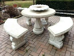 concrete round table and benches outdoor concrete patio table round patio furniture for cement table